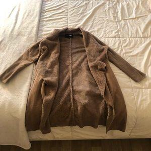 Furry trench coat